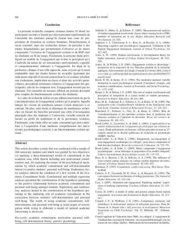 Conclusion La pre´sente recherche comporte certaines limites. D'abord, les participants recrute´s n'e´taient pas ne´cessai...