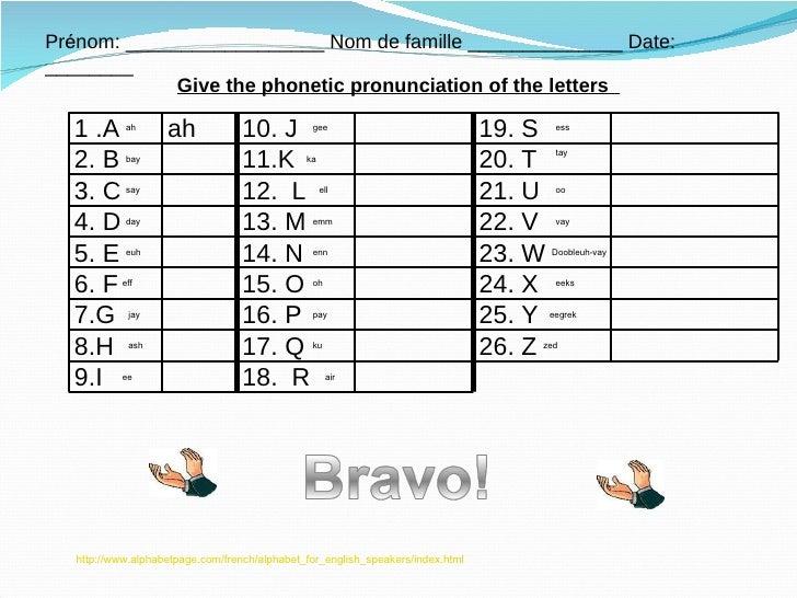 French L Alphabet