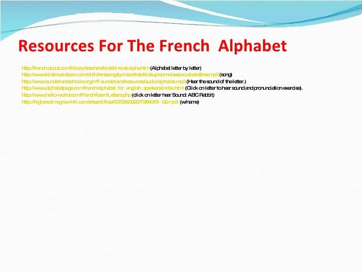 FRENCH L' ALPHABET