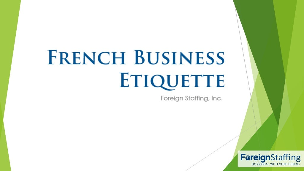 French Business Etiquette