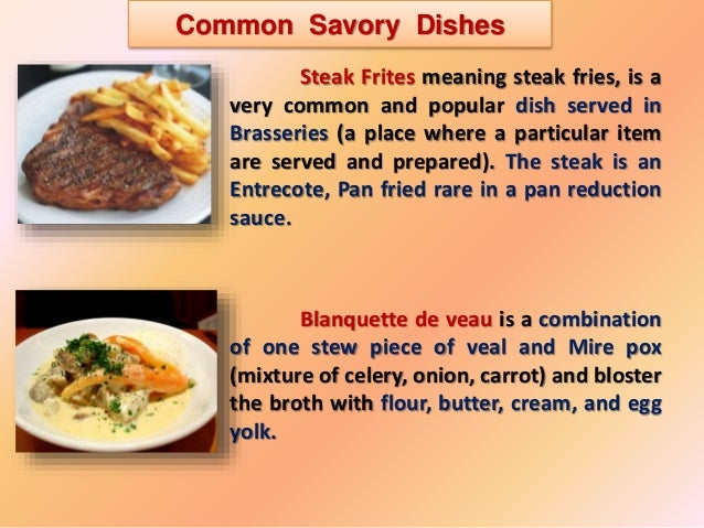 French Foods List And Recipes
