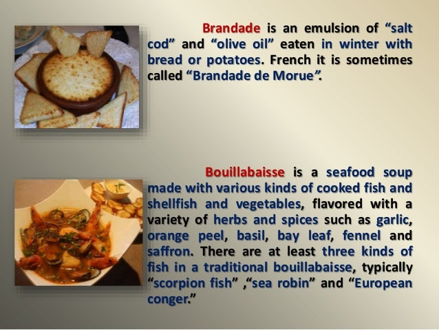 traditional french food names food