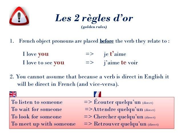 French direct pronouns