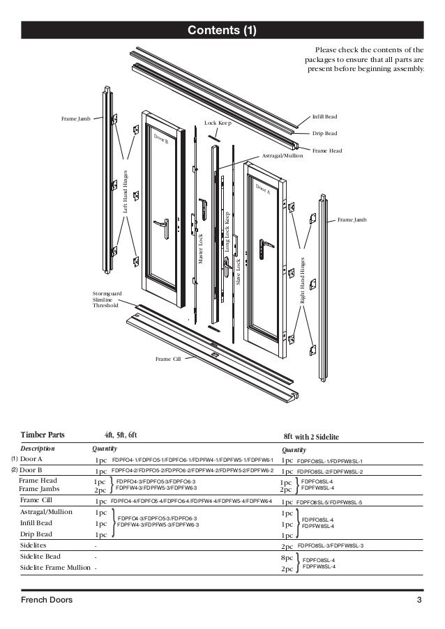 French Door Pairs Assembly Instructions