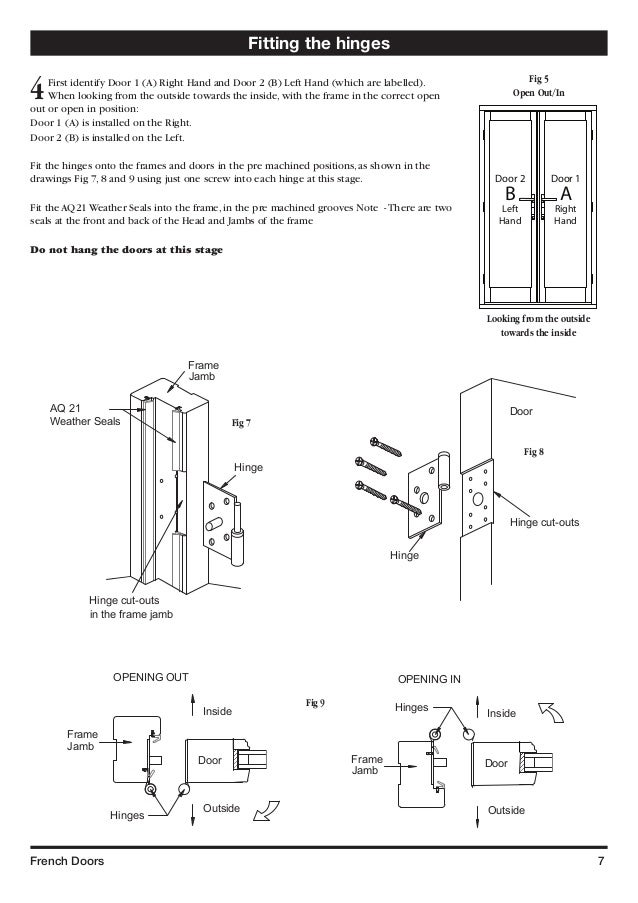 French Doors 7 Fitting The Hinges ...
