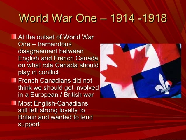 Canadian French-English Relations 1914-1970