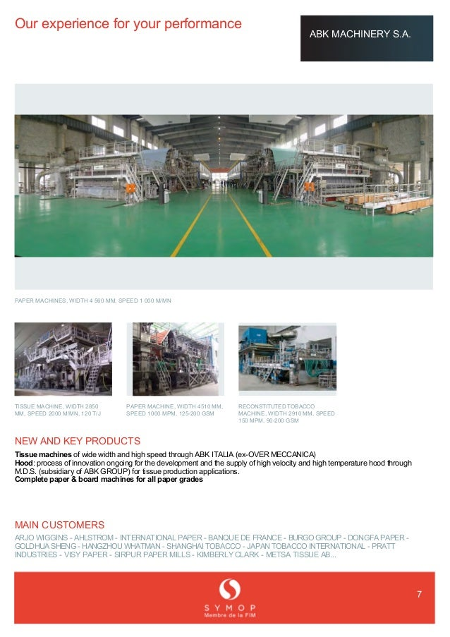 French Expertise_Paper Machinery_Offre en France (Asian
