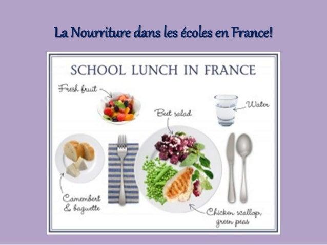 La Nourriture dans les écoles en France!
