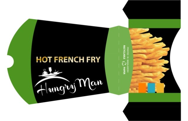 French fry- Food Box Design