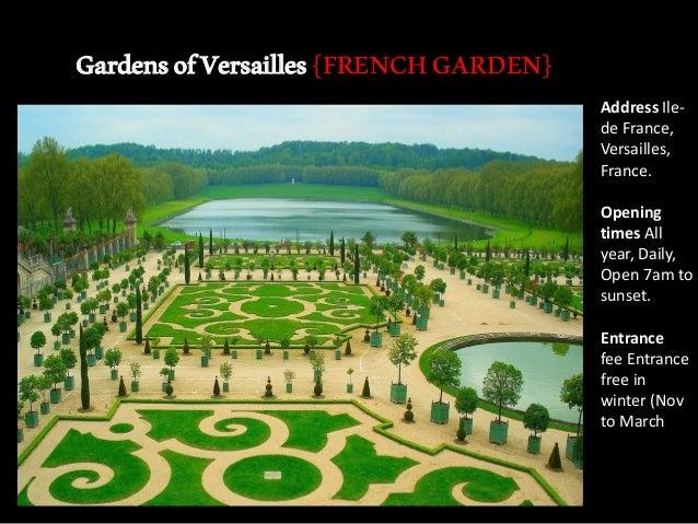 French garden at versallies.