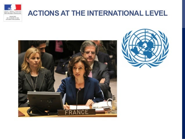 ACTIONS AT THE INTERNATIONAL LEVEL