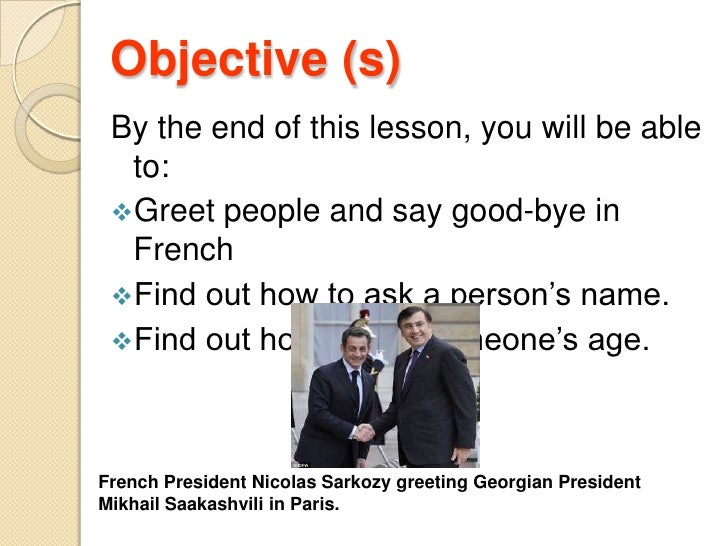 French greeting french greeting objective sbr by the end of this lesson you find out how m4hsunfo