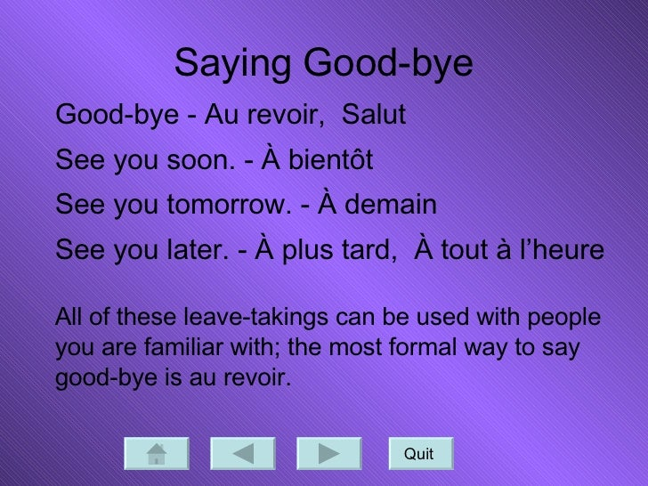 How do u say see you tomorrow in french