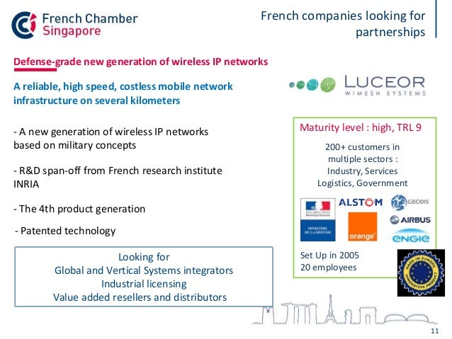 French innovation - opportunities for Singaporean companies