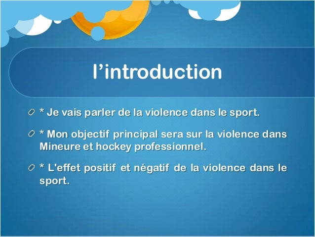 L'explication de lapolémique* Violence dans le sport a conduit à plus deblessures, les mort et les influences négatives, i...