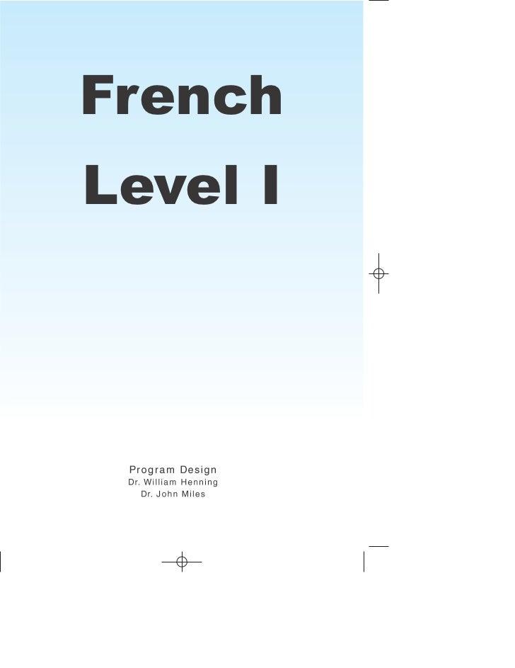 FrenchLevel I