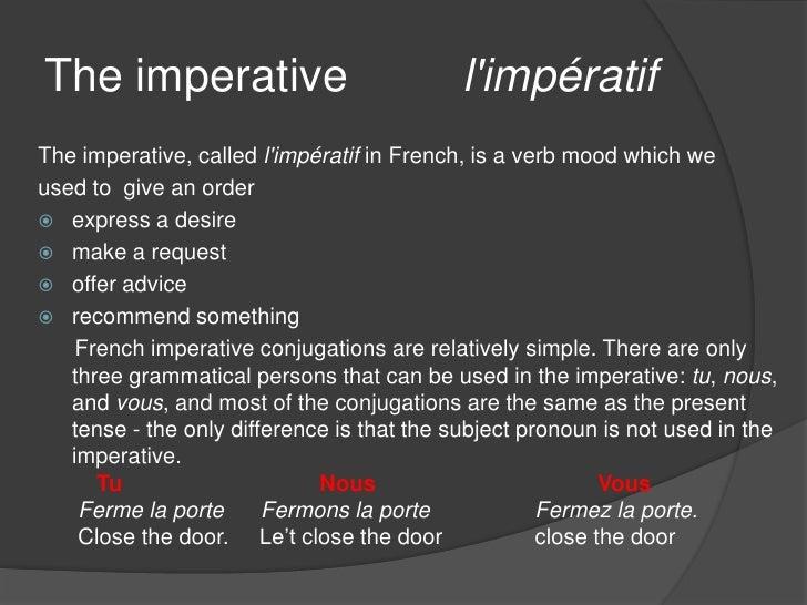 FRENCH: L'IMPÉRATIF