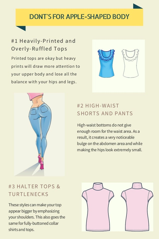 Do's & Don'ts for apple shaped body