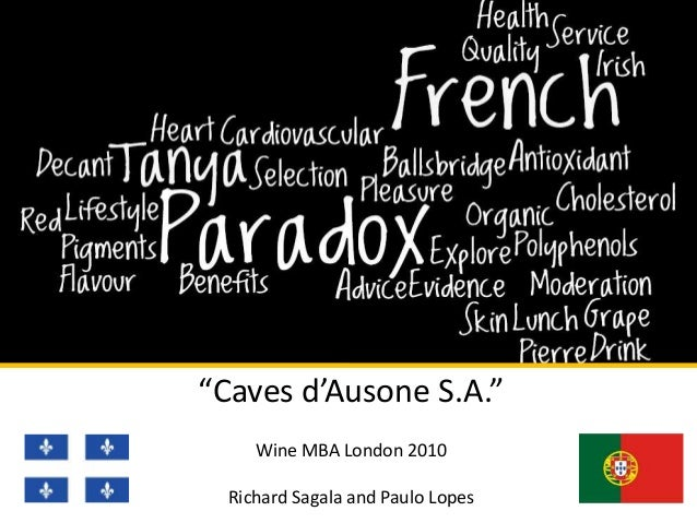 """Caves d'Ausone S.A."" Wine MBA London 2010 Richard Sagala and Paulo Lopes"