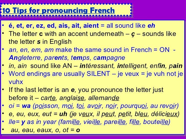 French phonics short