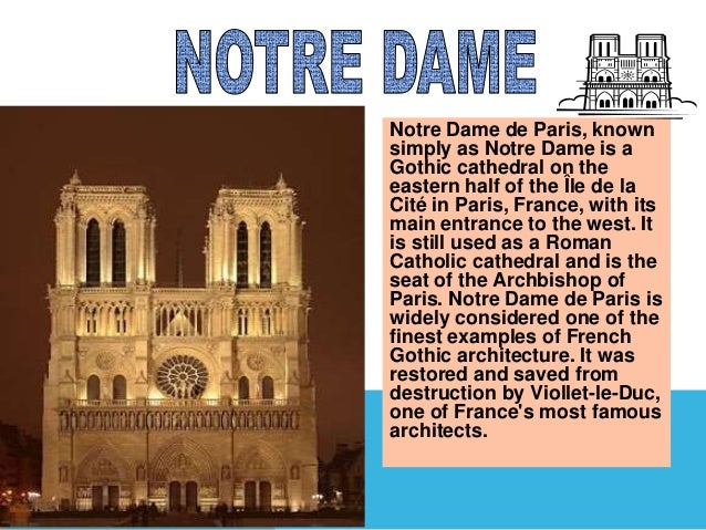 Power point project on paris.