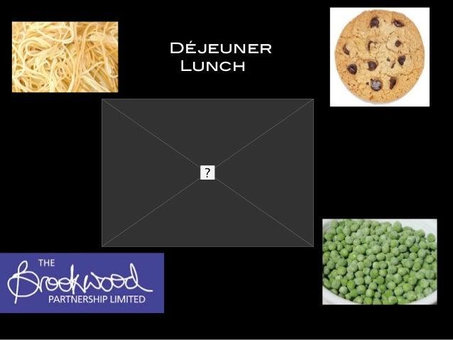 Déjeuner Lunch