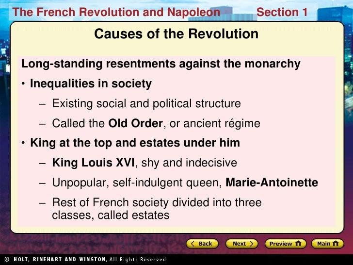 the events that caused the french revolution Causes of the revolutionary war the following events represent the major events along the way to war there is no one event that singularly led to the revolution.