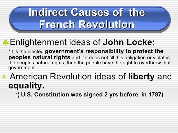 french revolution  18 indirect causes of the french revolution