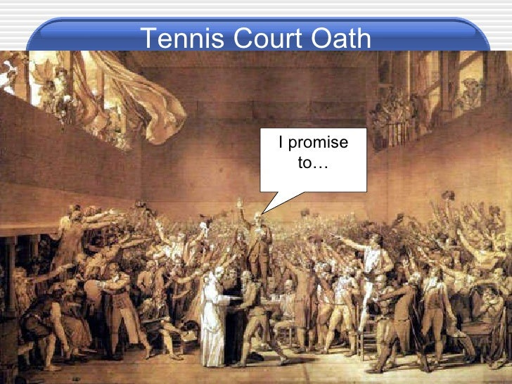 the events leading to the creation of the tennis court oath The tennis court oath estate during a meeting of the estates-general on 20 june 1789 in a tennis court building near the other events that happened on.