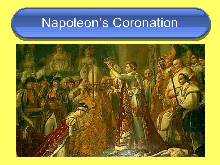 an analysis of the napoleon bonaparte crowned himself emperor of france On may 26, 1805, napoleon bonaparte was crowned the king of may 26 1805 – napoleon bonaparte is crowned king of italy 'emperor of france' and 'king.