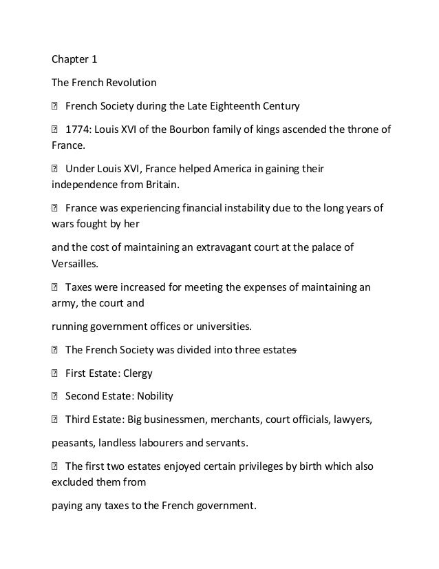 french revolution chapter 1 the french revolution iuml129para french society during the late eighteenth century iuml129para 1774
