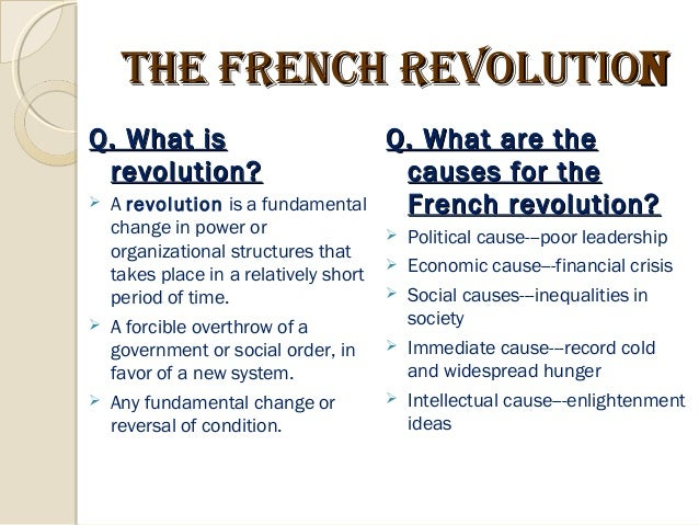 the political economic and social inequalities that causes the french revolution of 1789 Five causes of the french revolution estate system- social inequality economic injustice these ideas caused the people to question the churches ideas and.