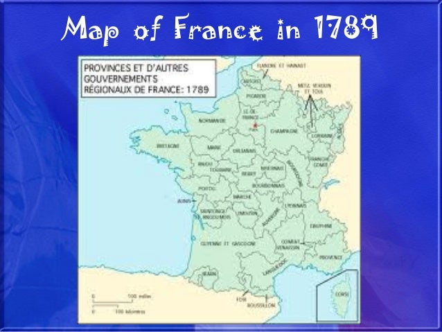 Map Of France In 1789.The French Revolution