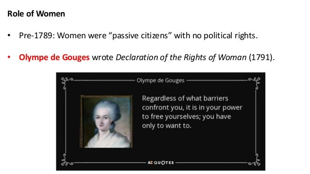 french revolution role of women