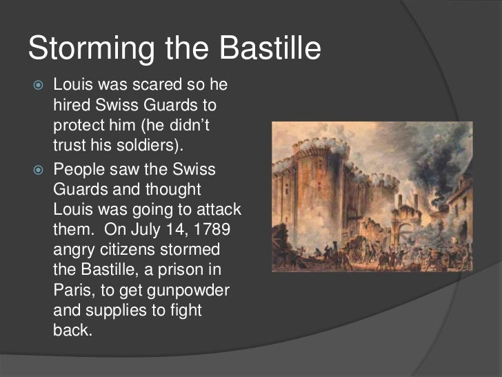 an analysis of storming of the bastille in france Bastille storming of the bastille, july 14 the revolutionary movement that shook france between 1787 and 1799 and reached its first climax there in 1789.