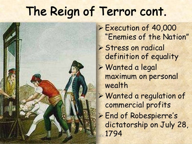 causes of the reign of terror Help what were some causes need to write an 1000 word essay.