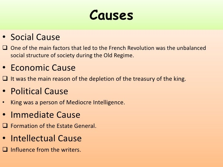 what are the two main causes of the french revolution