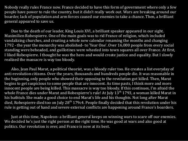 French revolution keynote