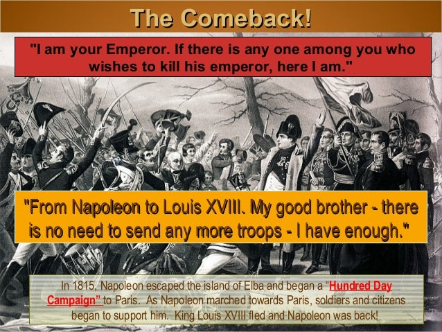 napoleon and french revolution The revolution, napoleon the french revolution and napoleon each in their turn had a tremendous impact on the development of the french educational system.