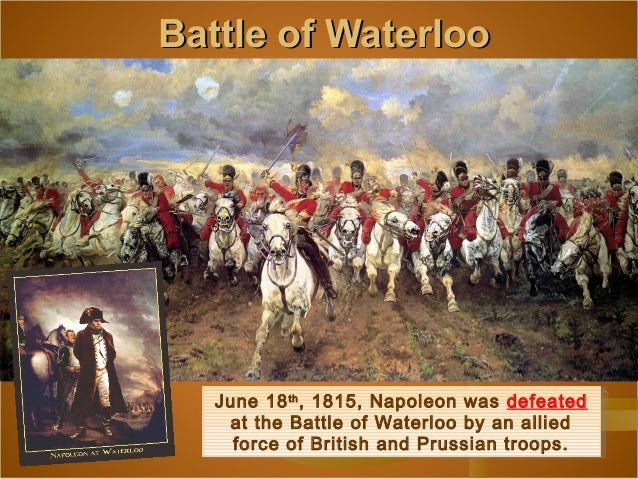Image result for napo; at the battle of waterloo