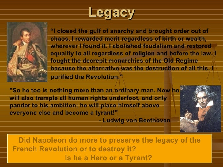 legacy of french revolution to the world