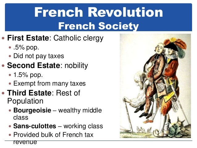 the french revolution social classes Social structure of france agil, jordan, jp, keisha, angel, and daniel the special privileges how did the social structure contribute to the french revolution resentment of royal absolutism unfair taxation relations second estate: noble man third estate: bourgeoisie, peasants and workers first .
