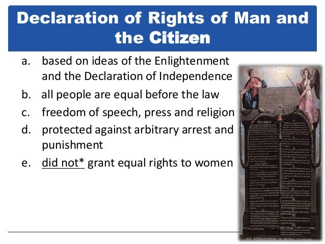 similarities between the declaration of rights of man and citizen and the us bill of rights The declaration of the rights of man was, like the declaration of independence in the american colonies, a statement to the aristocracy of the publics disdain for much like the 1st amendment in the united states constitution's bill of rights, articles 10 and 11 address the right of every individual to be vocal about the.