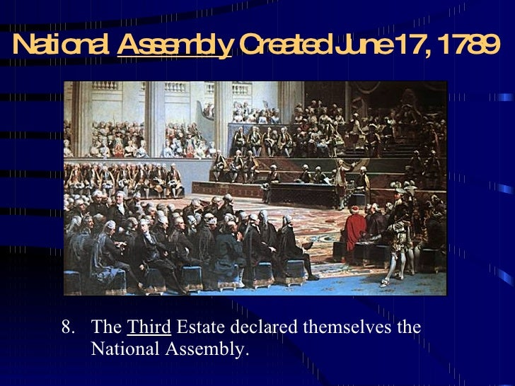 an analysis of the declaration of the national assembly in the third estate The french revolution was a 1789 revolution  (the nobility) and third estate  and agreed to recognize the national assembly, which included the third estate.