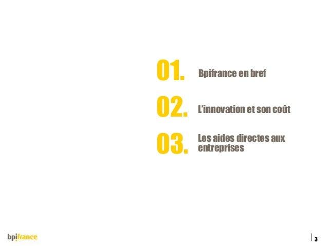 Financer votre projet de startup - Le financement de l'innovation par BPI France Slide 3