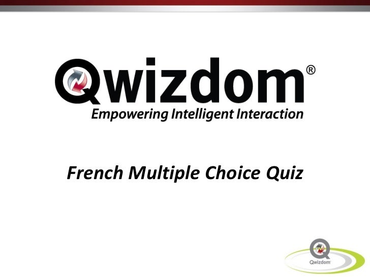 French Multiple Choice Quiz