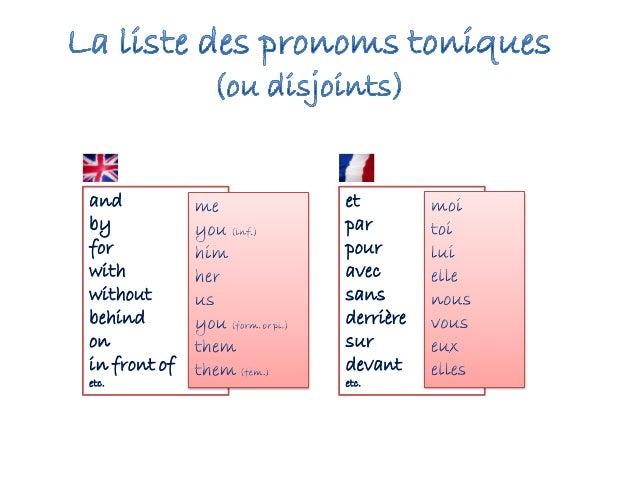 French tonic pronouns
