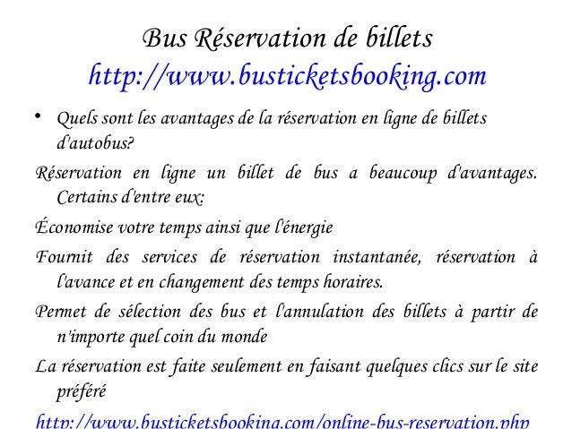 Bus Réservation de billets http://www.busticketsbooking.com • Quels sont les avantages de la réservation en ligne de bille...