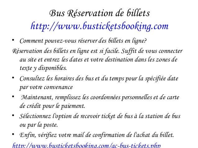 Bus Réservation de billets http://www.busticketsbooking.com • Comment pouvez-vous réserver des billets en ligne? Réservati...