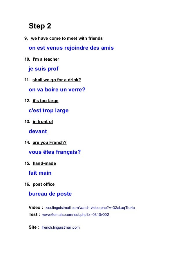 vh01] French Vocabulary 80 Words, Expressions and Sentences